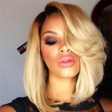 cute weaves short weaves for large foreheads best weave for a bob with straight layered blonde also two