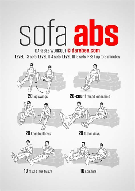 Sofa Abs Workout Workout Pinterest Followers Get