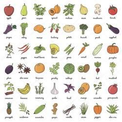Names And Pictures Fruits Et L 233 Gumes Avec Des Noms Image Vectorielle 89388142