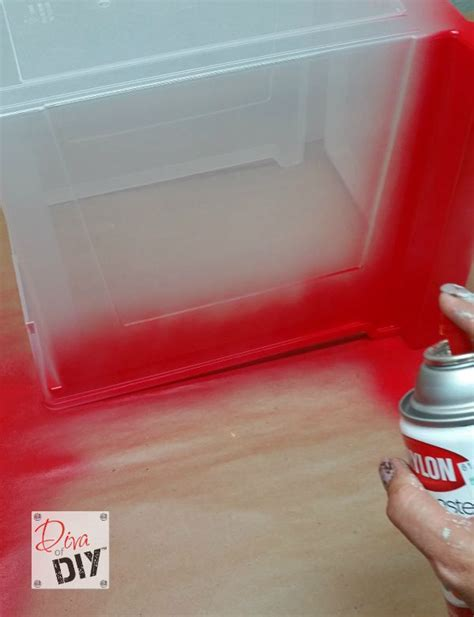 diy spray paint plastic storage 28 images how to spray paint plastic plastic crate rev here