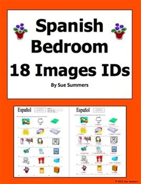 bedroom objects in spanish spanish bedroom items 18 vocabulary ids el dormitorio