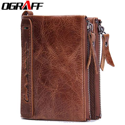 Leather Price Ograff Brand Wallets Dollar Price Purse Genuine