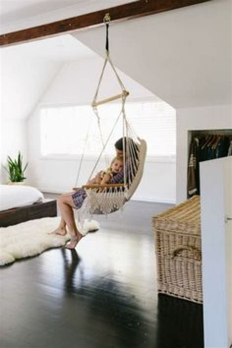 How To Hang A Hammock Indoors Without Damaging Walls How To Hang A Swing From Ceiling