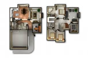 Home Design 3d Two Storey Remarkable 3 Bedroom House Floor Plan 3d Home Designs 2