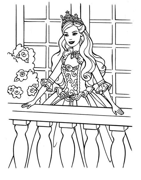 Barbie Princesa - Desenhos para Colorir, Imprimir - Mundo