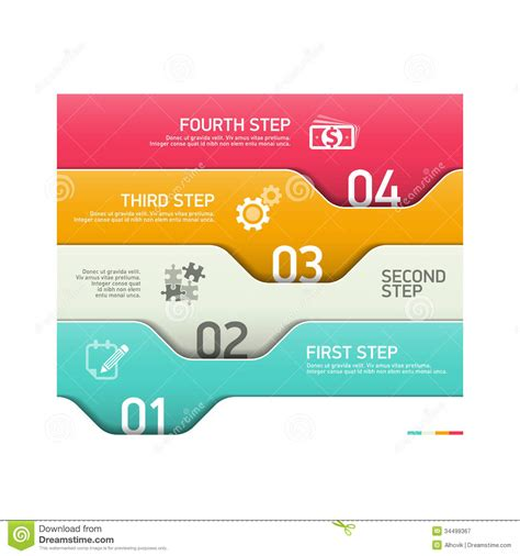 stepping design templates abstract infographics element royalty free stock