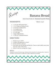 recipe template for word banana bread nana s recipe makeover the scacchi house