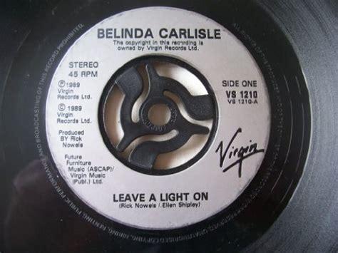 belinda see a light lyrics belinda carlisle leave a light on cd covers