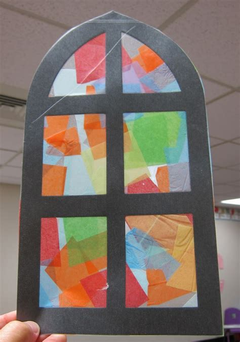 Stained Glass Paper Craft - best photos of church crafts preschool church