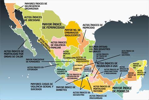 Goorefrendo Edo De Mexico 2015 | checa el mapa 191 qu 233 es lo peor de cada estado de m 233 xico