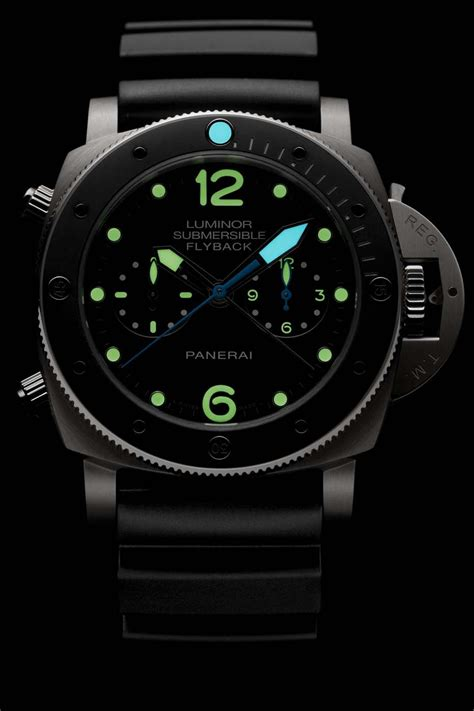 Luminor Panerai Chrono Leather 2 luminor submersible 1950 flyback chrono titanium with ceramic bezel panerai the