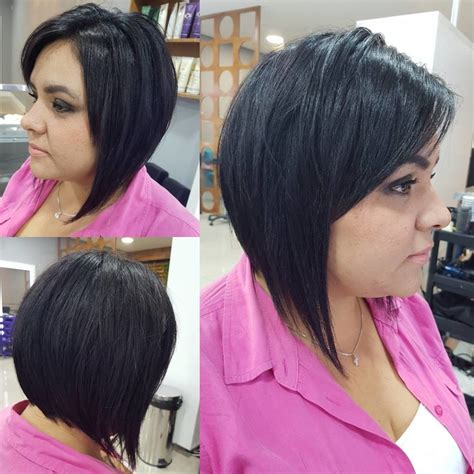 difference in angled and side swoop bangs women s short angled bob with front layers and side swept