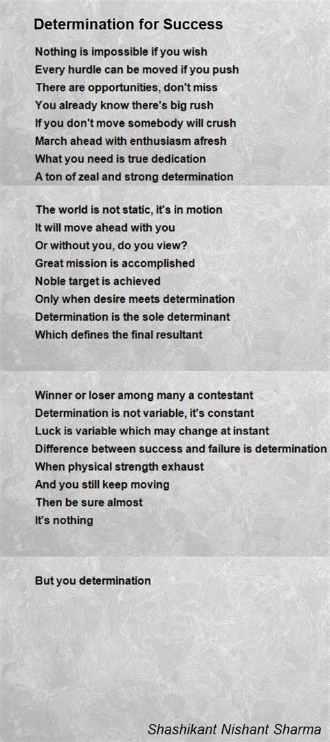 poem for determination for success poem by shashikant nishant