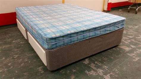 used futon mattress bed double kingsize divan with 4 drawers and mattress
