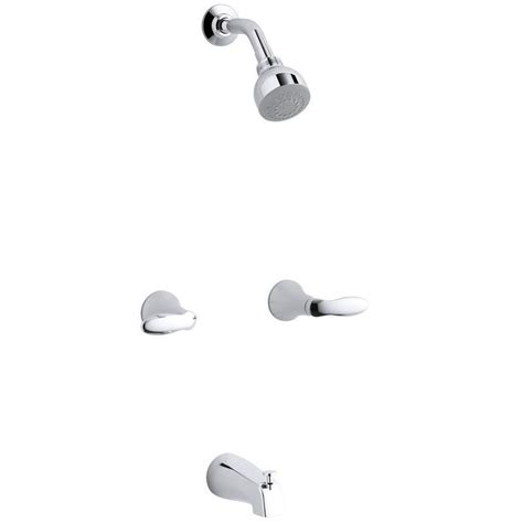 Kohler Shower And Tub Faucets by Kohler Coralais 2 Handle Tub And Shower Faucet Trim Only