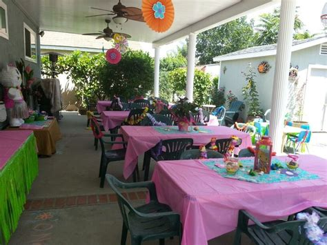 Backyard Party Set Up Christening Pinterest
