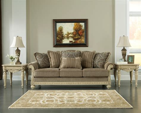 Ortanique Sofa Table by Parkington Bay Platinum Living Room Set
