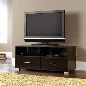 sauder cinnamon cherry tv stand for tvs up to 47