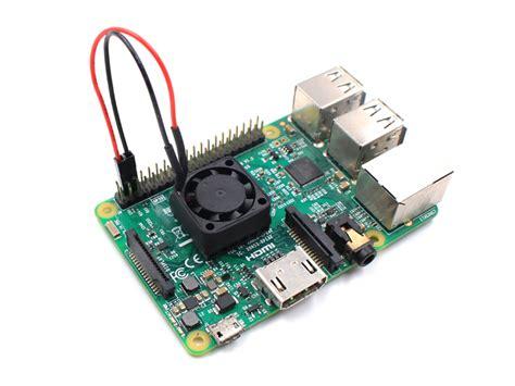 Raspberry Pi Heat Sink by Heatsink With Fan For Raspberry Pi Makerfabs