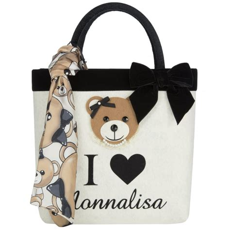 Bag With Teddy monnalisa bag with black handle and teddy detail monnalisa from chocolate