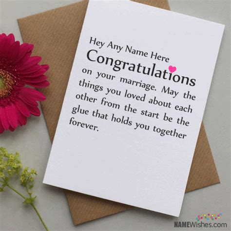 how to write wedding card congratulations congratulations wedding wishes with name writing option