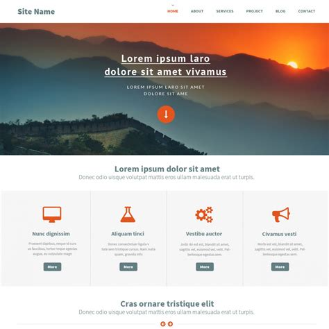free homepage template image gallery html website templates