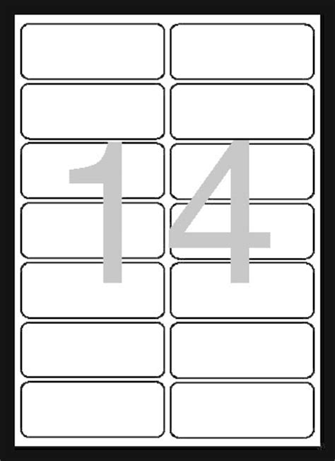 Universal Laser Printer Labels Template by Universal Labels