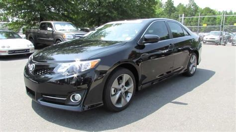 le black 2012 toyota camry se v6 start up exhaust and in depth review