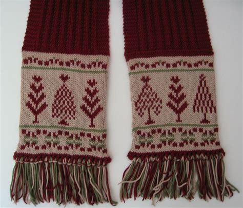 knitting pattern fair isle scarf a fair isle christmas scarf pattern by mary triplett