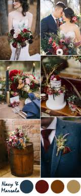 wedding fall colors ten most gorgeous navy blue wedding color palette ideas