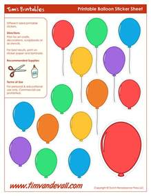 Printable Template by Printable Balloon Template Birthday Printables