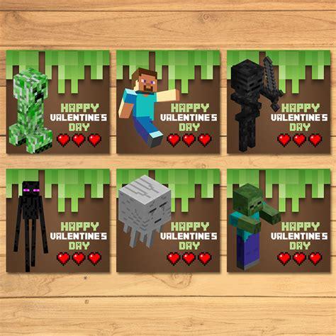 Minecraft Valentine S Day Cards - minecraft valentines day cards minecraft monkstavern