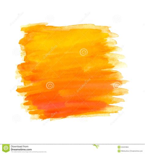 abstract brush strokes orange watercolor stock vector image 53431894