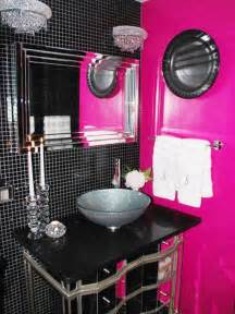 Pink And Black Bathroom Ideas pink and black bathroom decorating ideas room decorating