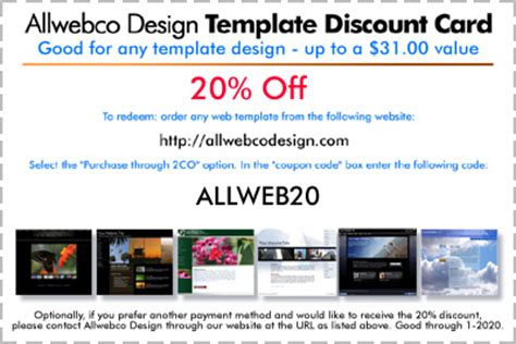 coupon site template allwebco web template promotional discount codes