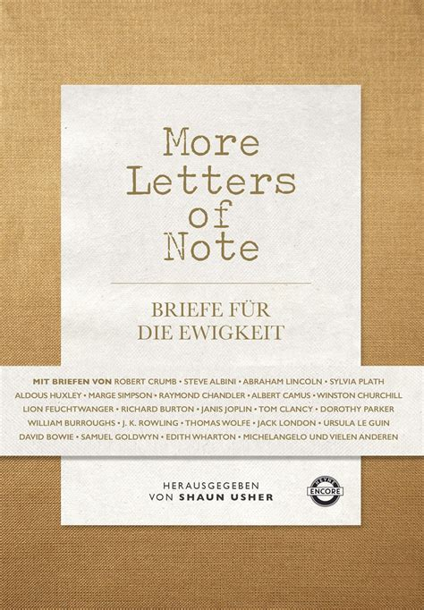 Letters Of Note shaun usher more letters of note heyne encore