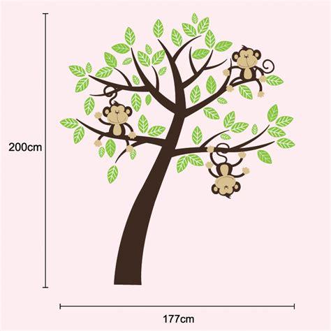 three cheeky monkeys swinging in a tree cheeky monkeys swinging in a tree children s room nursery