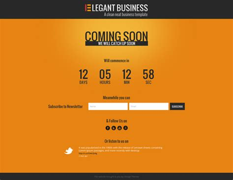 elegant business psd website template