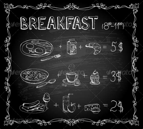 free chalkboard menu template sle chalkboard menu template 19 documents