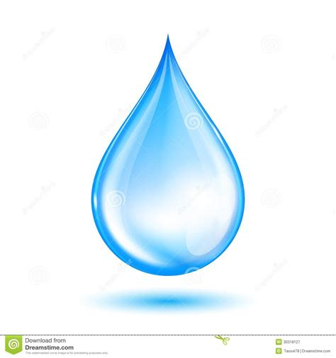 a drop in the blue shiny water drop stock vector illustration of motion 30318127