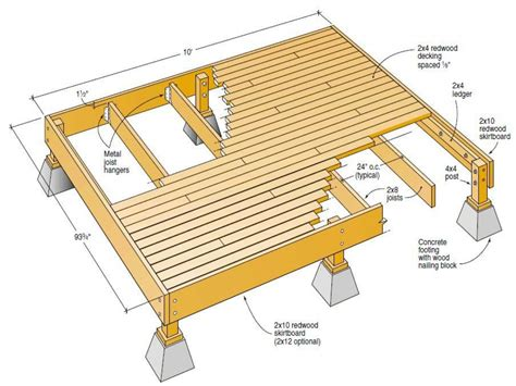 free wood deck plans free deck plans blueprints deck plan