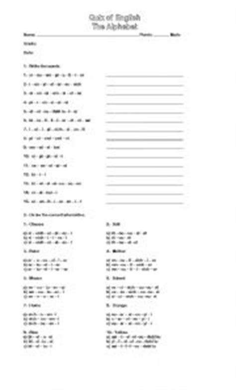printable alphabet quiz english worksheets alphabet quiz