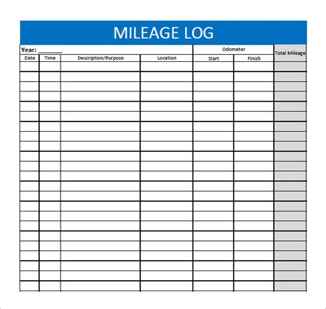 vehicle expense log template best photos of monthly mileage log template printable