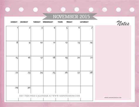printable calendar november 2015 free november calendar 2015 coloring pages