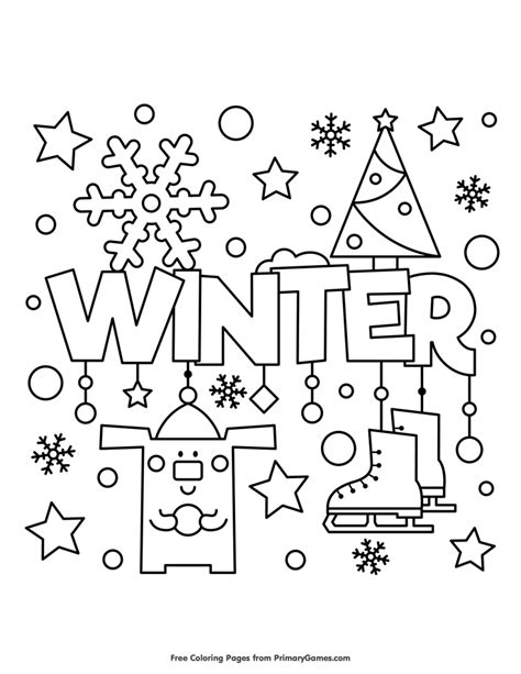 winter coloring page  printable  coloring