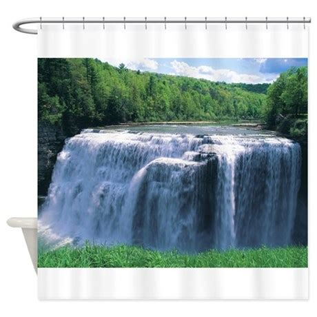 waterfall shower curtains waterfall shower curtain by scenicphotography