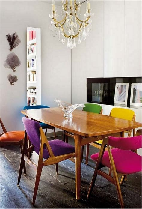 colorful dining table colorful dining chairs modern mix up design lovers blog