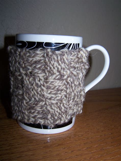 mug knitted warmer herself at home knitted woven mug warmer