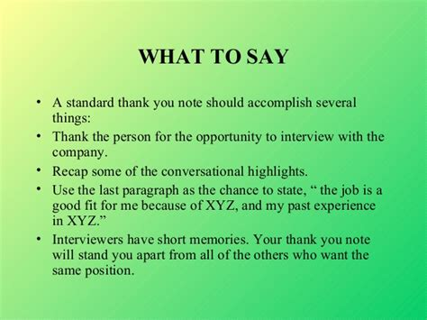 thank you letter to for believing in you interviews