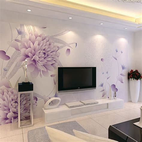 3d Wall Designs Bedroom 3d Wallpaper Bedroom Mural Modern Luxury Embossed Flowers Wall Background B853 Ebay